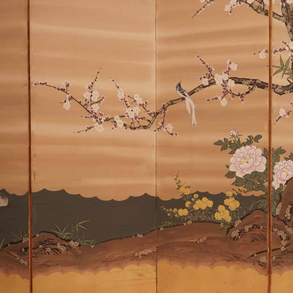 Japanese six panel screen Sutter Antiques Hudson, NY